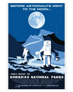 Astronauts Training At National Parks Sticker