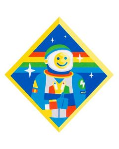 Explore Happiness Astronaut Sticker