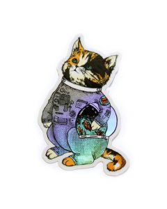 Space Cat Holographic Sticker