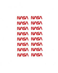 NASA Worm Logo Decal Sheet