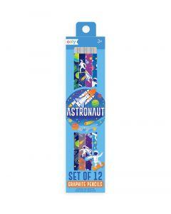 Astronaut Graphite Pencils Set of 12