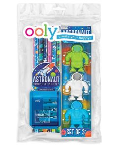 Astronaut Pencils, Erasers and sharpener Pack