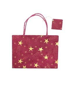 Red Small Shooting Star Gift Bag