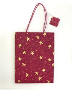 Red Medium Shooting Star Gift Bag
