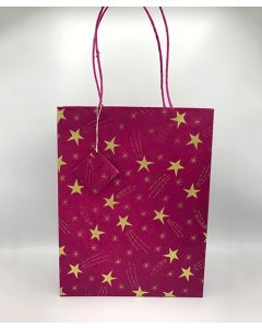 Red Medium Shooting Star Gift Bag