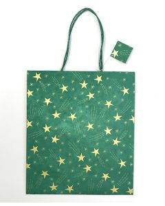 Green Large Shooting Star Gift Bag