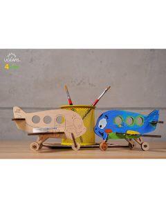 UGears Wood Coloring Airplane Model