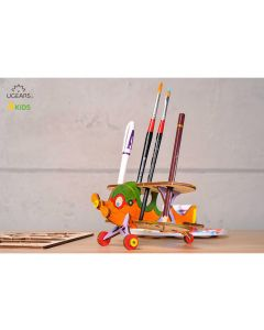 UGears Wood Coloring Biplane Model
