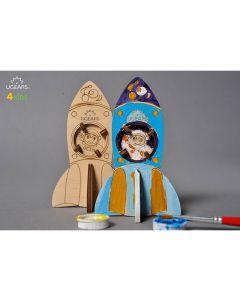 UGears Wood Coloring Rocket Model