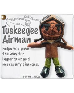 Tuskegee Airman String Doll