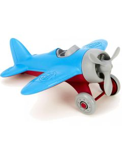 Blue Wing Airplane with Grey Propeller
