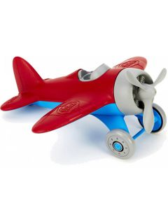 Red Wing Airplane with Grey Propeller
