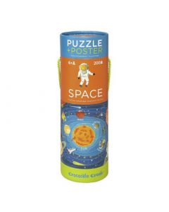 Space 200 Piece Puzzle and Poster Tube