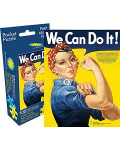 Rosie the Riveter 100 Piece Pocket Puzzle