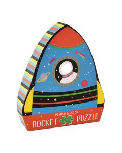Astronaut In Window Rocket 12 Piece Puzzle