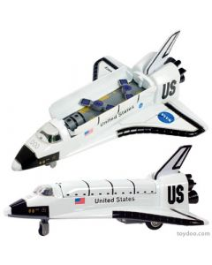 "7.5"" Space Shuttle Pullback with Working Bay Doors"