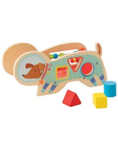 Space Dog Wood Shape Sorter