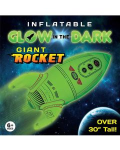 Glow in the Dark Giant Inflatable Rocket