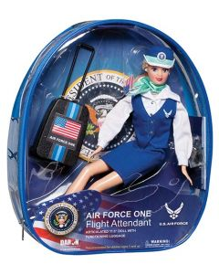 Air Force One Flight Attendant with Backpack