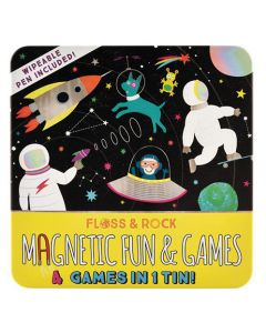 Space Magnetic Fun and Games Tin