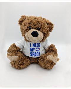 "12"" Cinnamon I Need My Space Bear"