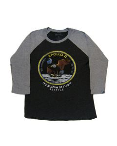 Apollo 11 Patch Raglan Long Sleeve Tee