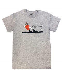 Snoopy Seattle Skyline Storm Grey Tee