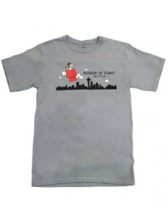 Snoopy Seattle Skyline Storm Grey Tee
