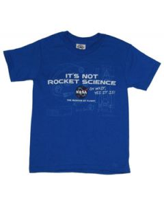 Youth Not Rocket Science Blueprint Tee