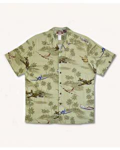 Sage WWII Planes and B-17 Hawaiian Shirt