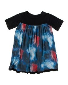Galaxy Print Swing Dress