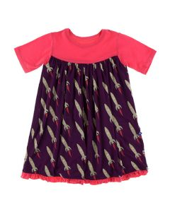 Rockets Pattern Swing Dress