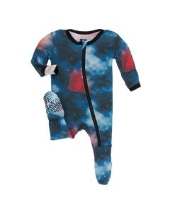 Galaxy Print Zip Footie