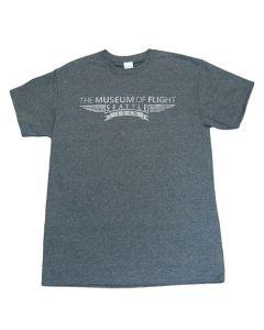 Museum of Flight Wings Heather Grey Tee