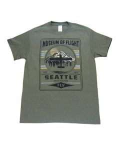 Fly Mt. Rainier Museum of Flight Green Tee