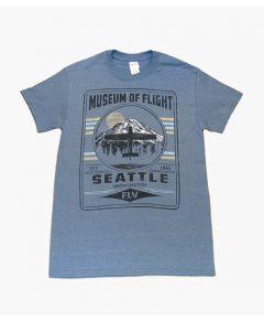 Fly Mt. Rainer Museum of Flight Blue Tee