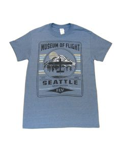 Fly Mt. Rainier Museum of Flight Blue Tee