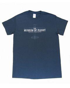 Airplane Blueprint Museum of Flight Tee