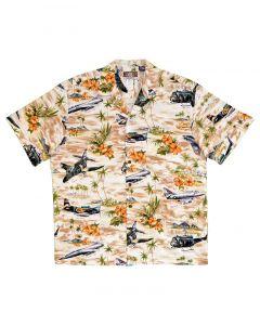 Modern Military Khaki Hawaiian Shirt