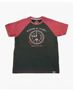 Altimeter Grey and Red Tee