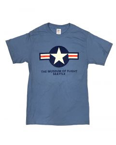Star and Bars Blue Tee
