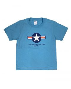 Star and Bars Blue Youth Tee
