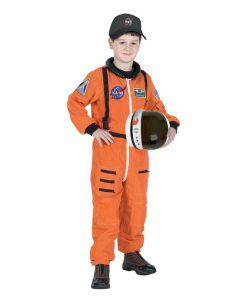 Orange Astronaut Flight Suit With Cap